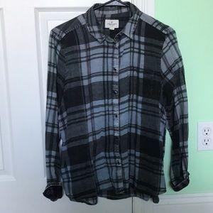 Plaid button up shirt (light weight)